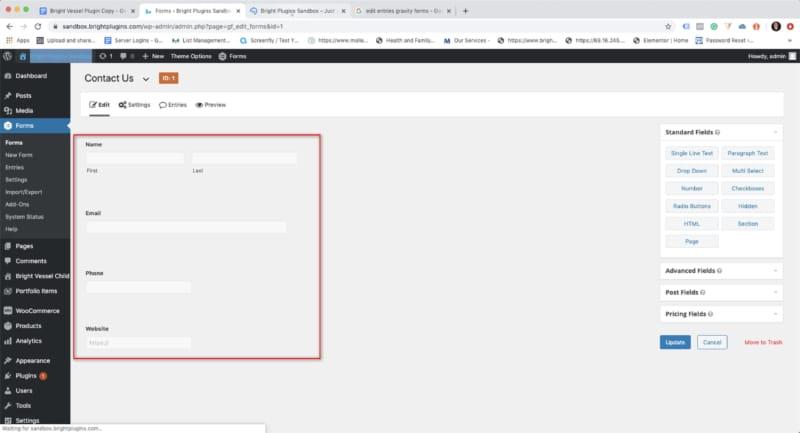 Gravity Forms Edit Entries - Step #6