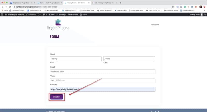 Gravity Forms Edit Entries - Step #7