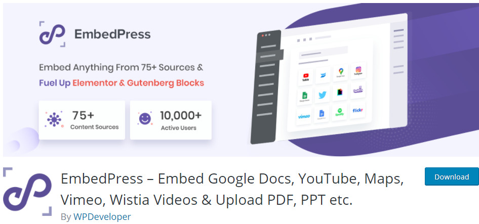 EmbedPress WordPress Plugin