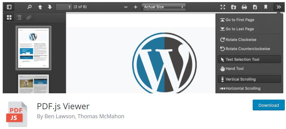 PDF.js Viewer WordPress Plugin